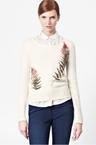 French Connection Fern Printed Angora Sweater