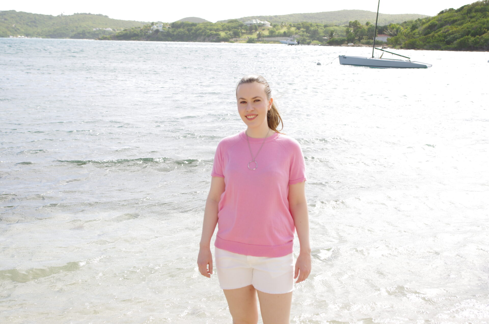 Joie Pink Sweater Nonsuch Bay Antigua