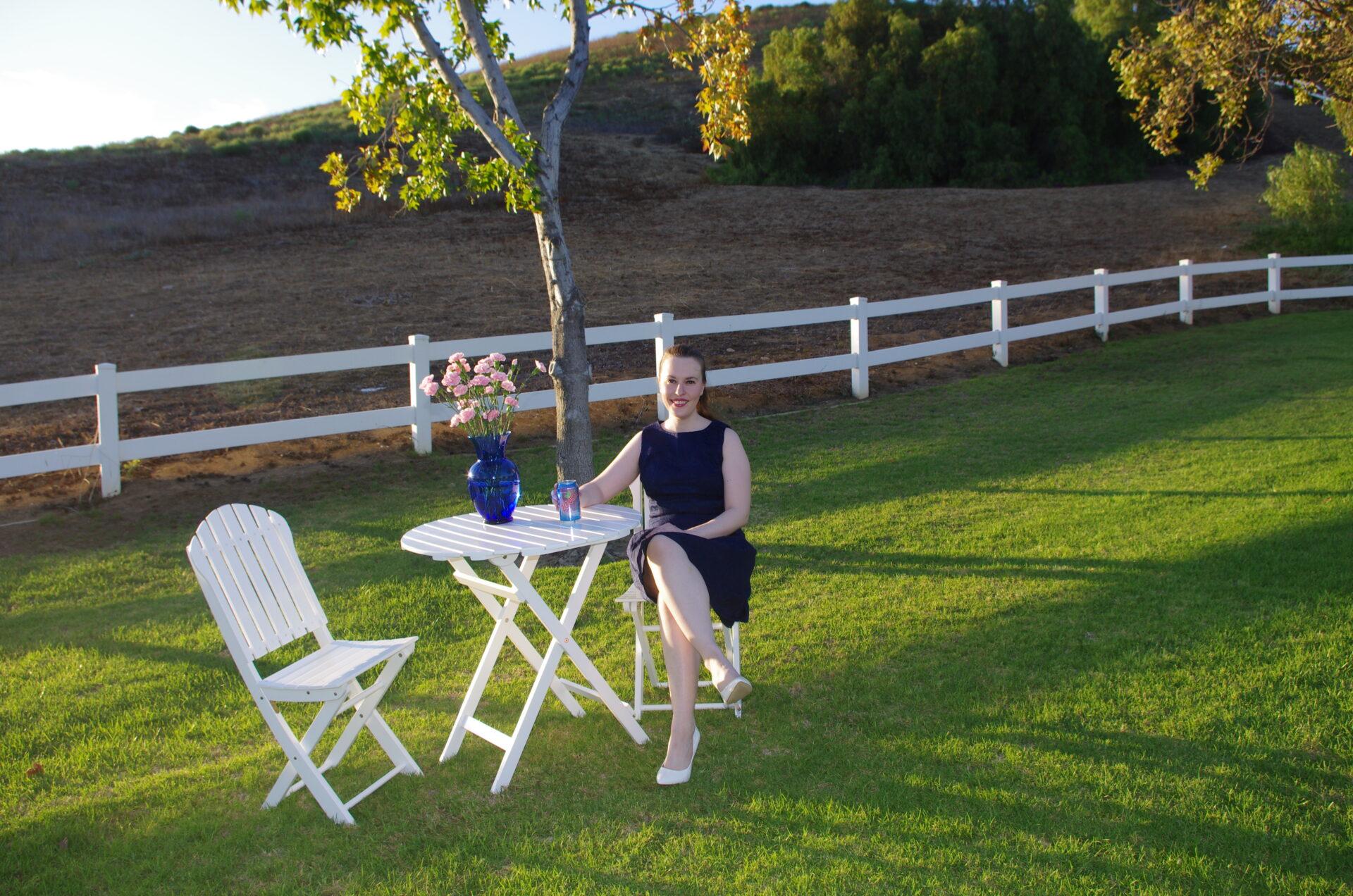#ZeviaStyle, Eva Mendes Brocade Dress, New York and Company, BCBG White Heels
