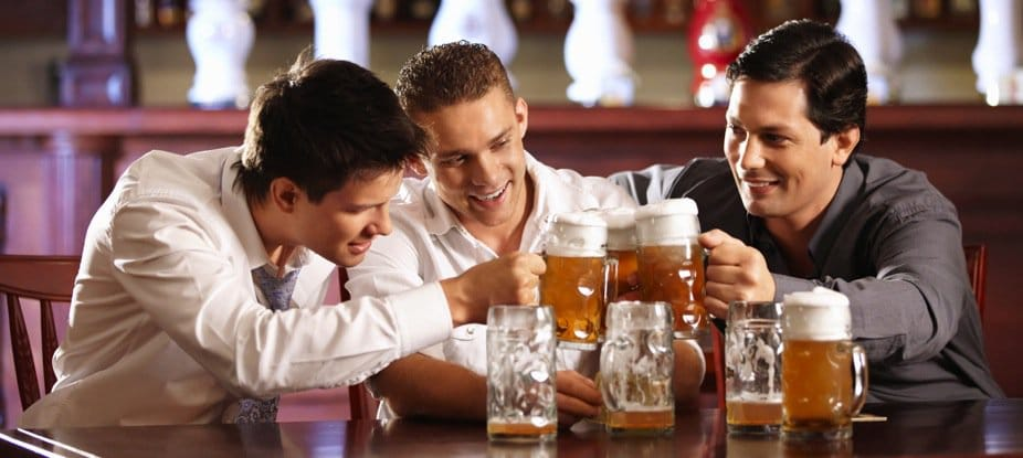 A man who encourages his friends to drink…